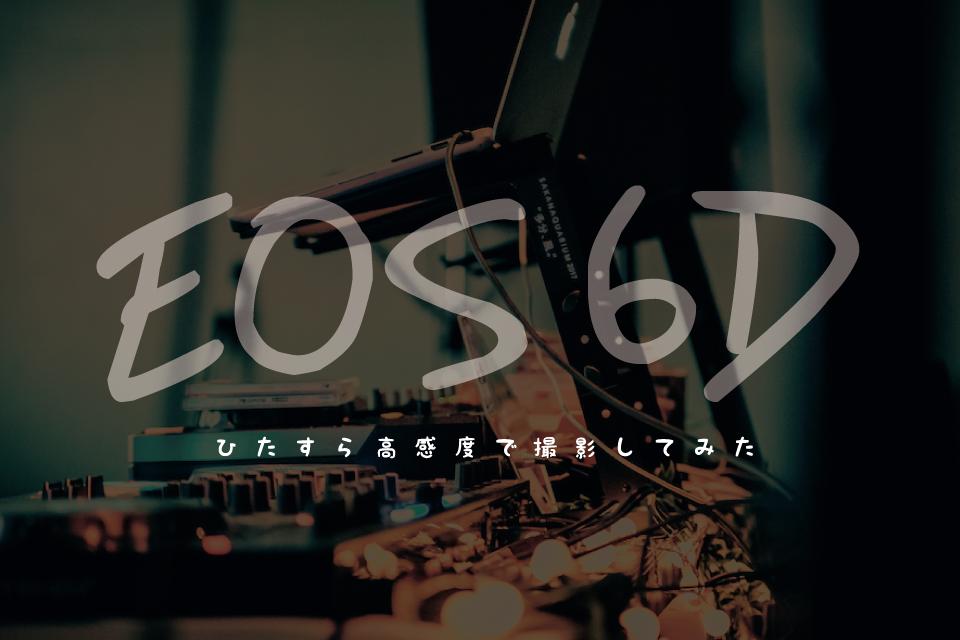 【作例】Canon EOS6DのISO感度をひたすらに上げて撮影してみた