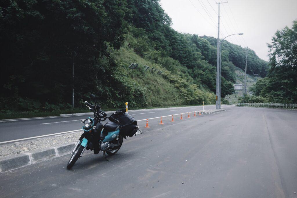 北海道ツーリング中の山道